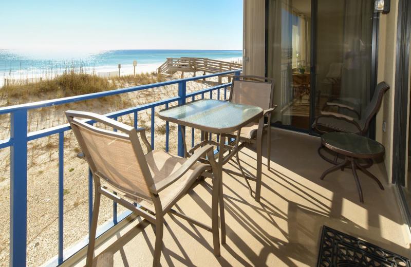 Guest balcony at Nautilus Condominiums.