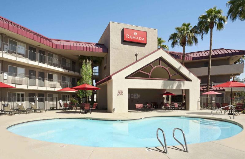 Outdoor pool at Ramada Tempe at Arizona Mills Mall.
