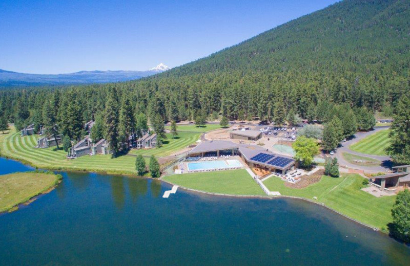 Aerial view of Black Butte Ranch.