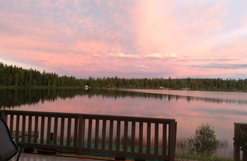 Sunset at Tyee Lake Lodge.