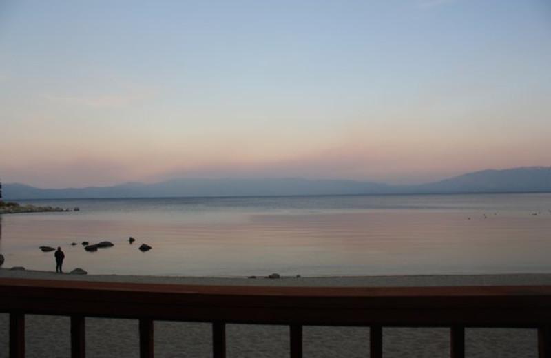 Beach view at Meeks Bay Resort & Marina.