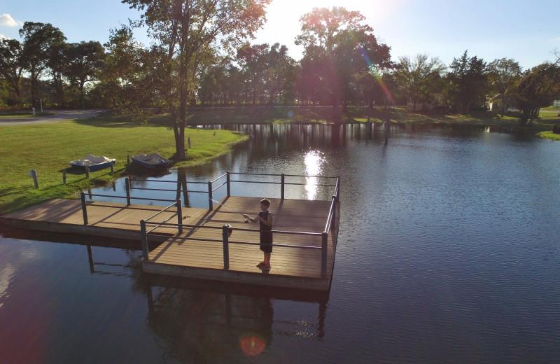 Fishing at Mill Creek Ranch Resort.