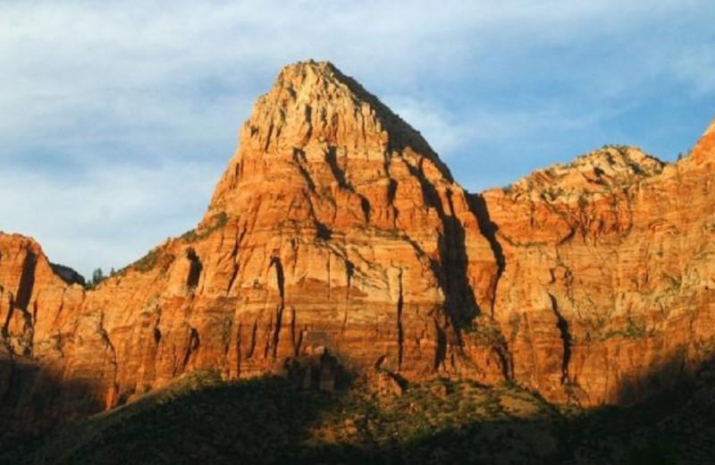 Beautiful mountain view at Zion Ponderosa Ranch.
