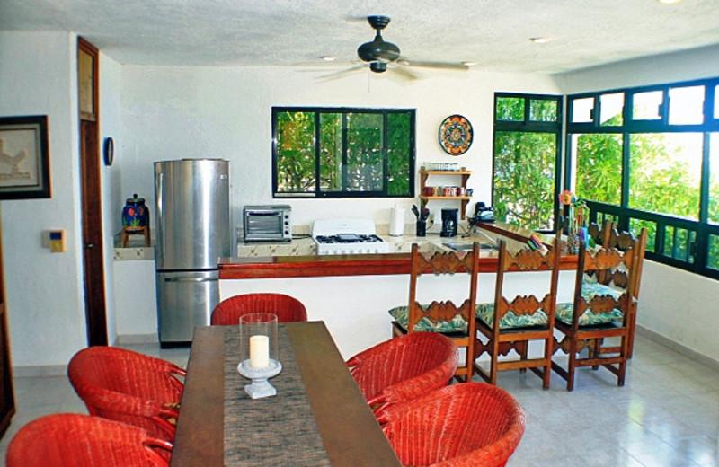 Rental kitchen at Casa Zama II.