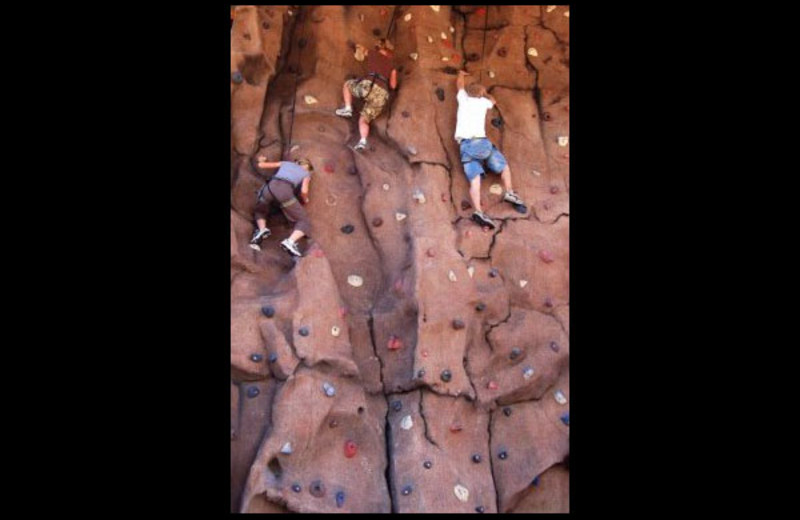 Rock climbing at Hidden Springs Ranch.