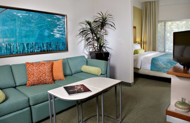 Guest room at SpringHill Suites Scottsdale North.