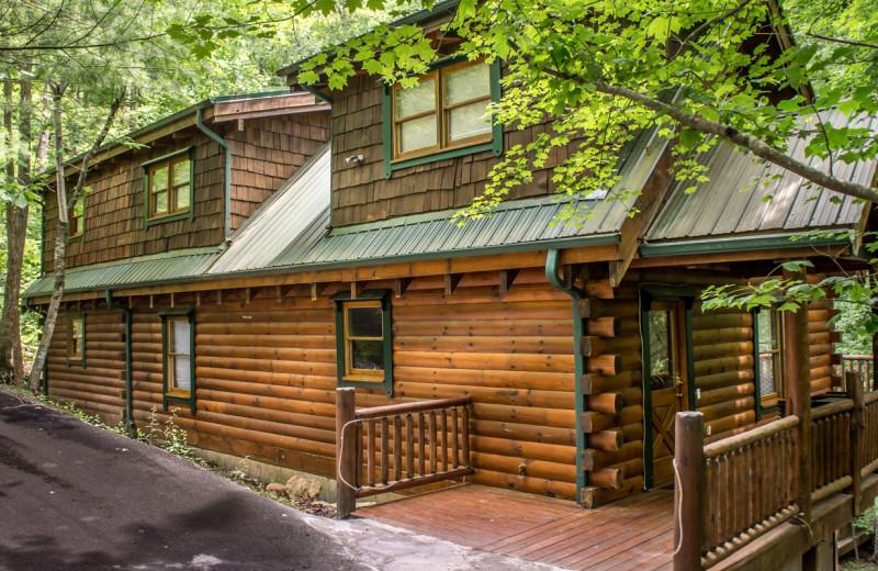 Rental exterior at Natural Retreats Great Smoky Mountains.