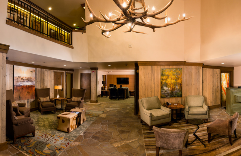 Lobby view at Vail Mountain Lodge & Spa.