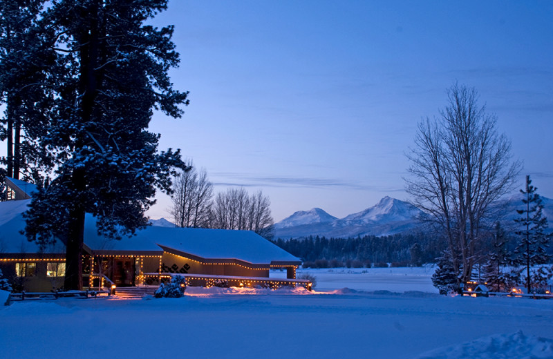 Wintertime at Black Butte Ranch.
