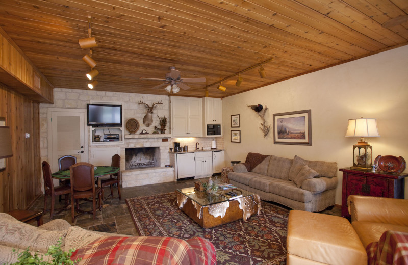 Guest living room at Joshua Creek Ranch.