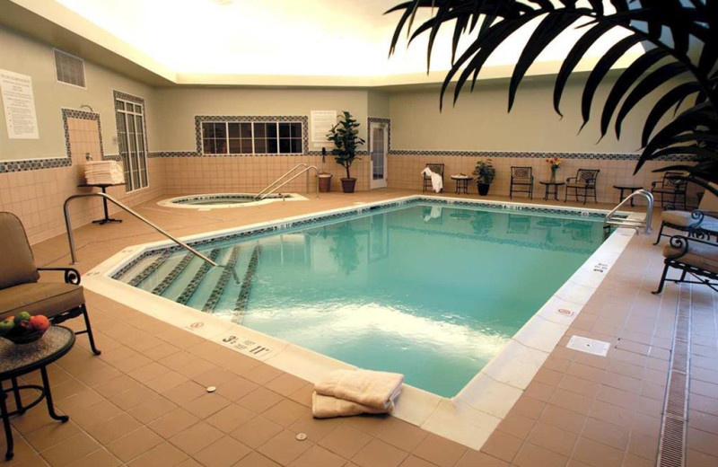 Indoor pool at Homewood Suites by Hilton Melville, NY.