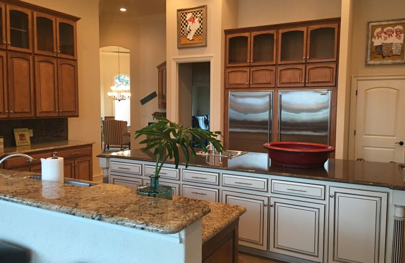 Rental kitchen at BlueSky Vacation Homes.