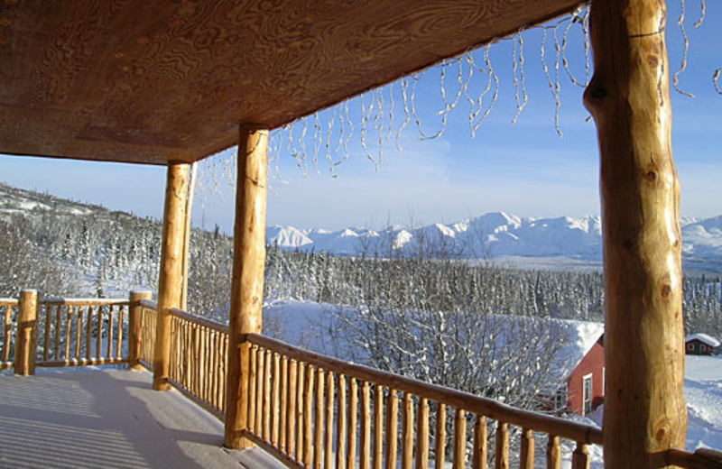 Porch view at Majestic Valley Lodge.