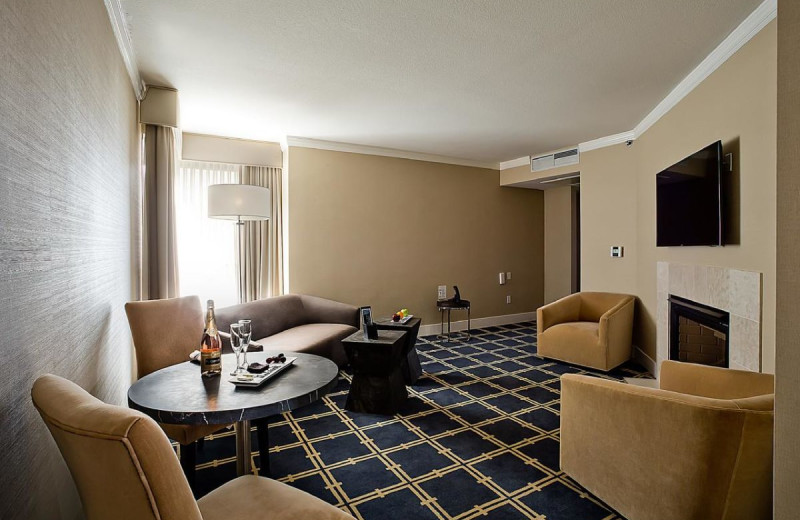 Guest living room at The Grand Hotel.