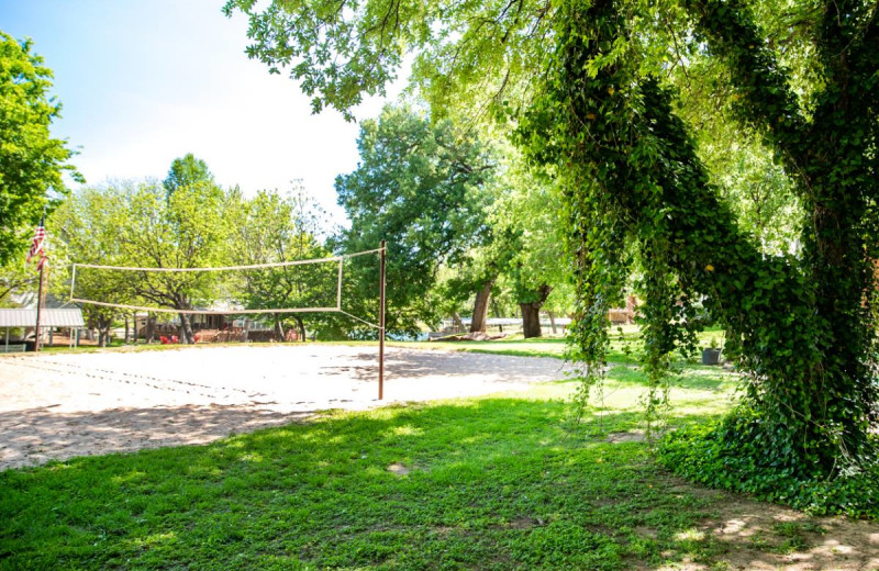 Volleyball court at Log Country Cove.