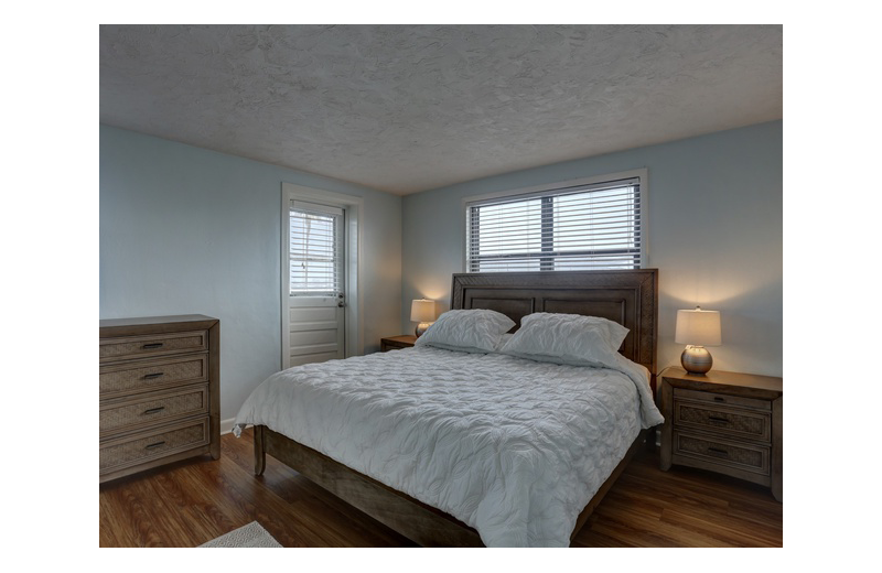 Guest bedroom at Gulf Winds Resort Condominiums.