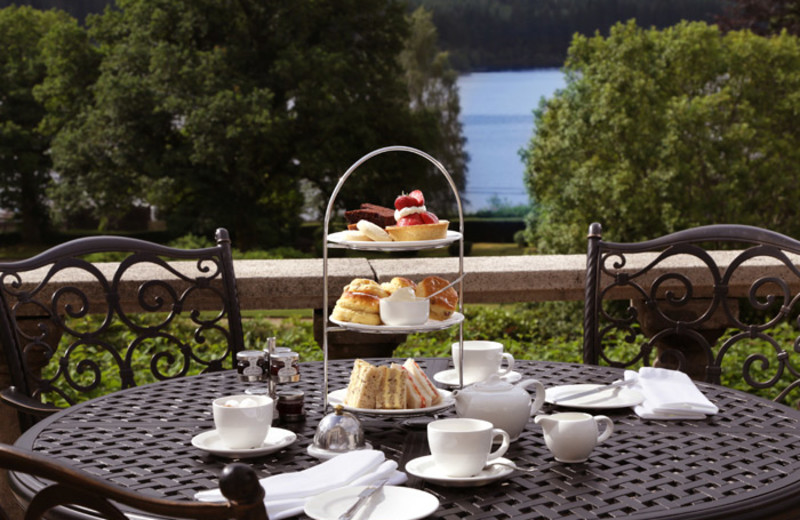 Tea time on the patio at Macdonald Forest Hills Hotel & Spa.