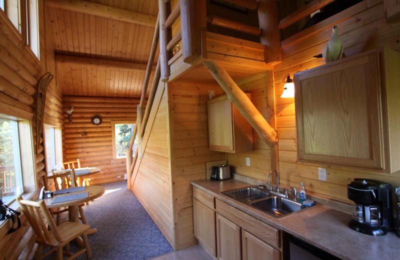Interior view of Mt. Cecil Cabin, Alaska Heavenly Lodge.
