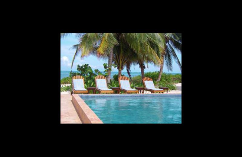Outdoor pool at Coco Caye Villa.