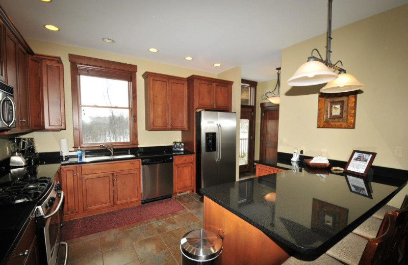 Rental kitchen at Deep Creek Vacations.
