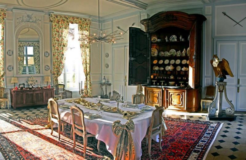 Dining room at Chateau de La Barre.
