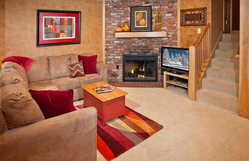 Vacation rental living room at Vail Racquet Club.