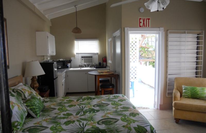 Rental bedroom at Paradise Cove Resort.