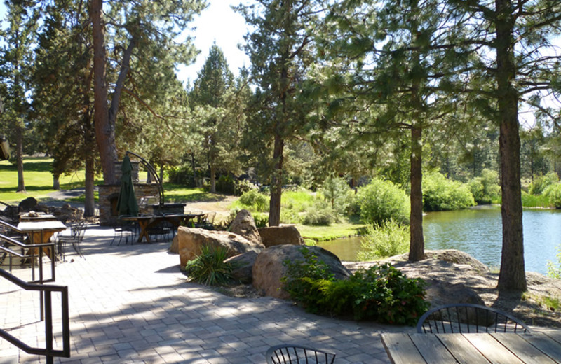 Patio view of Rock Springs Guest Ranch.