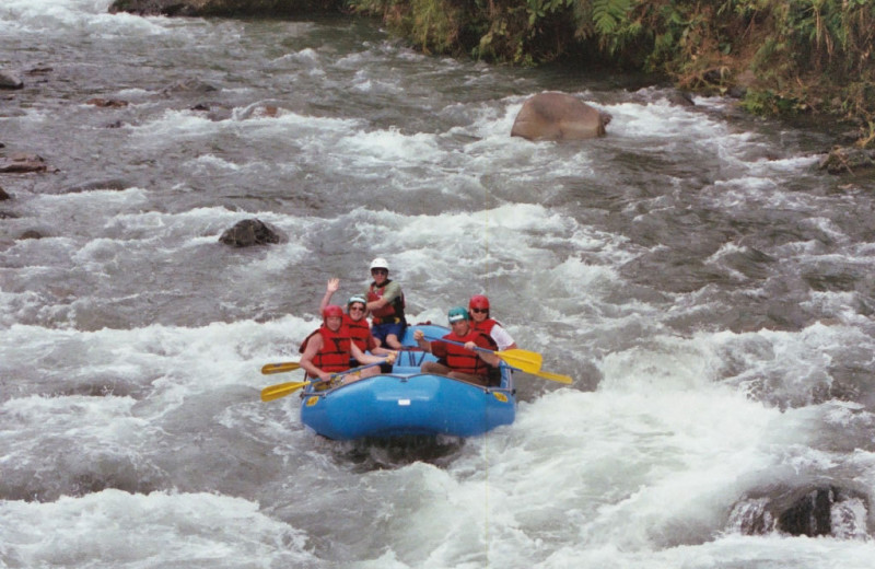 River rafting at Hacienda Primavera Wilderness Ecolodge.