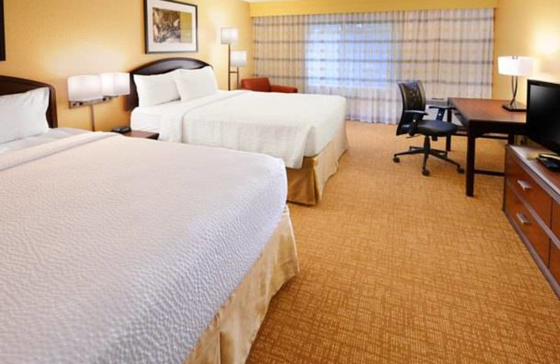 Guest room at Courtyard by Marriott Fort Worth Fossil Creek.
