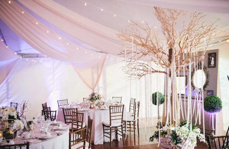 Wedding reception at Fiddler Lake Resort.
