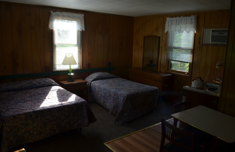 Motel interior at Twin Pines Resort.