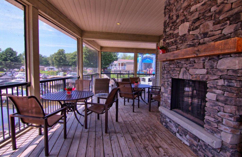 Deck at Great Blue Resorts- Shamrock Bay Resort.