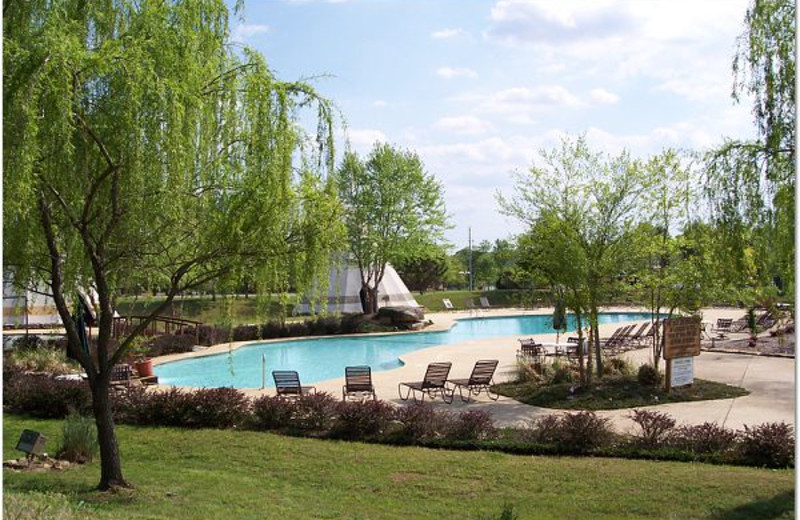Outdoor pool at Doublehead Resort.