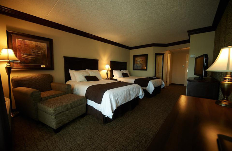 Guest room at Fourwinds Resort & Marina.