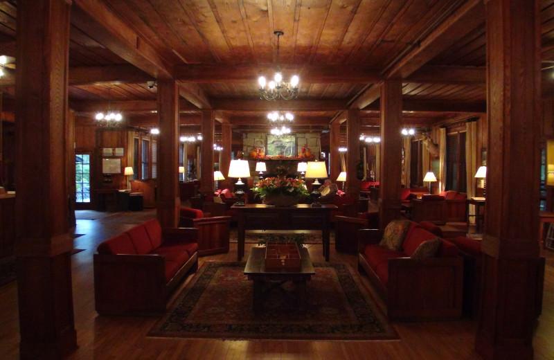 The lobby at High Hampton Inn.