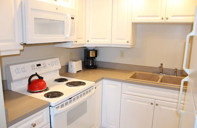 Guest kitchen at Gulfview Manor Resort.