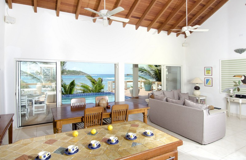 Villa living room at Island Properties Luxury Rentals.