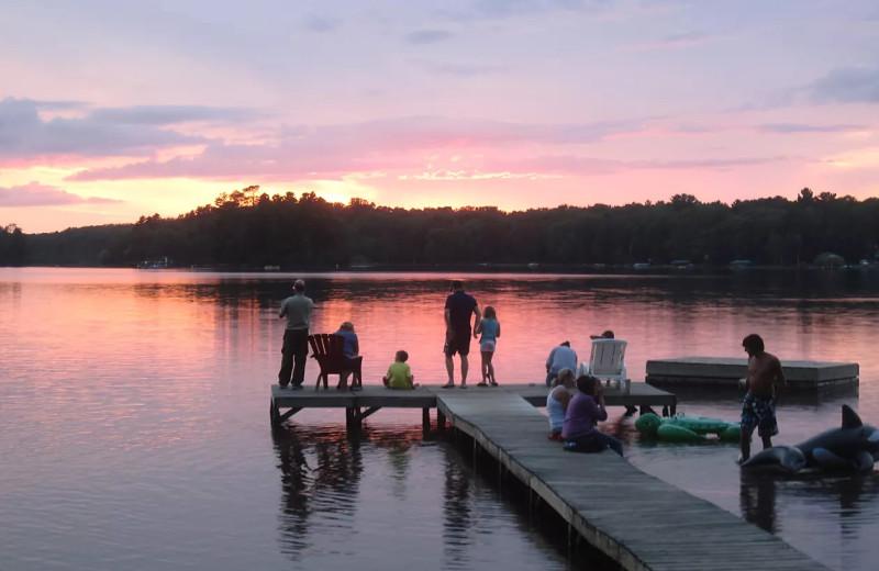 Fishing at Holiday Acres Resort.