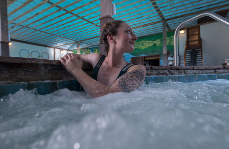 You'll find two whirlpool hot tubs in our pool area