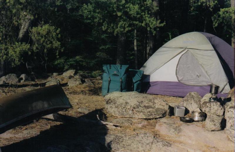 Camping at Lodge of Whispering Pines.