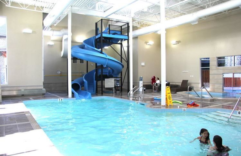 Indoor pool at Paradise Resort Club.