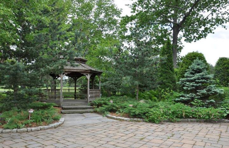 Garden view at Lake Morey Resort.