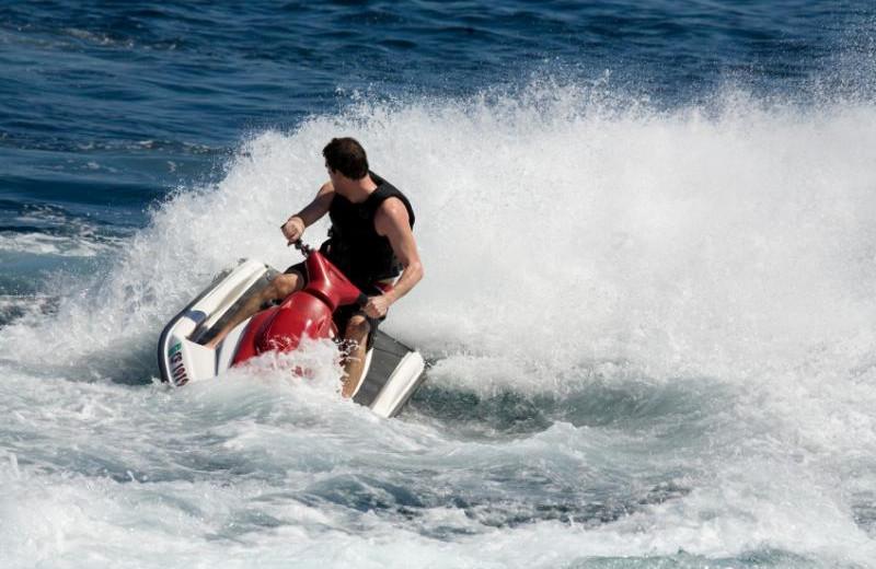 Lake activities at Cedar Point Resort.