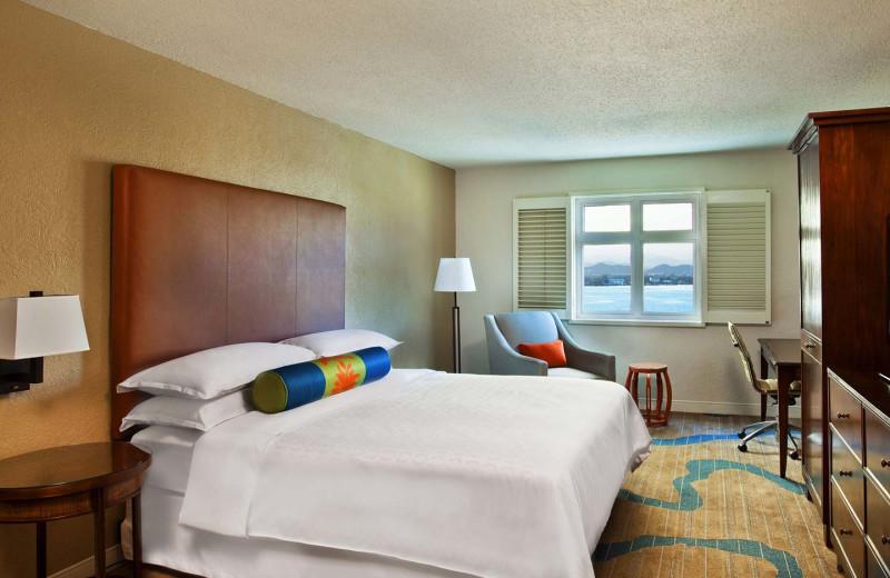 Guest room at Sheraton Old San Juan Hotel & Casino.