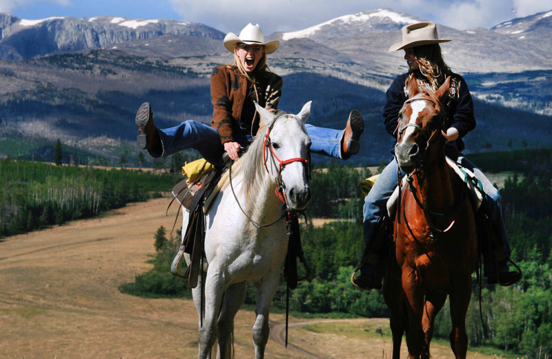Horseaback riding at Paradise Guest Ranch.