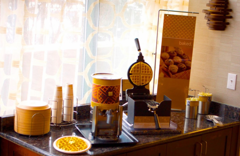 Waffles at Hampton Inn & Suites Flagstaff.