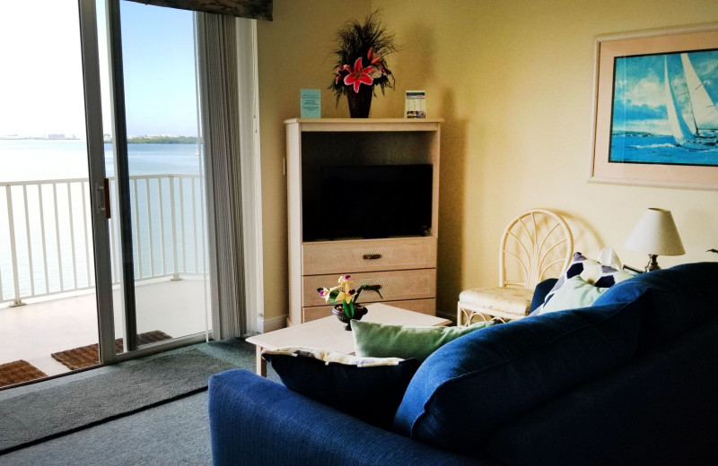Guest living room at Boca Ciega Resort.