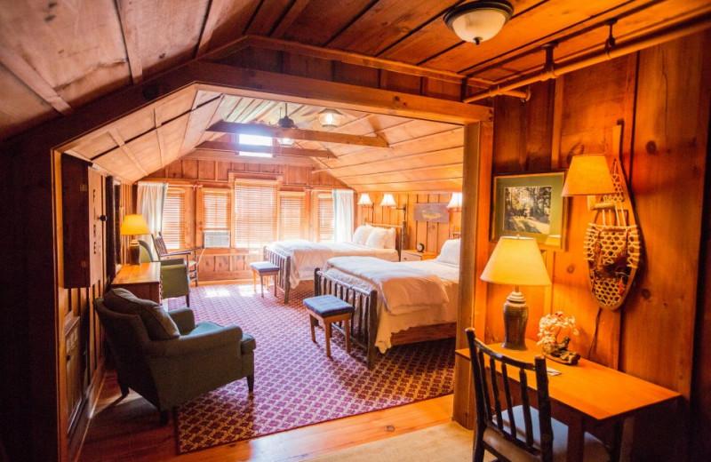 Double bedroom at High Hampton Inn.