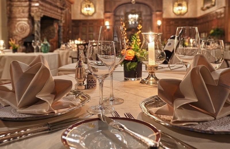 Dining at Schlosshotel Kronberg.